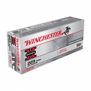 Winchester Super-X .223 WSSM 55 Grain Jacketed Soft Point - 20 Rounds