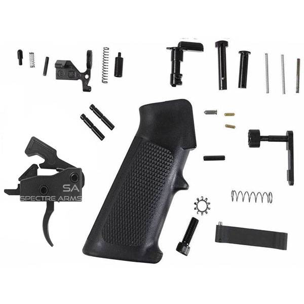 Spectre Arms AR-15 MIL-SPEC Lower Parts Kit with Upgraded Trigger - Black